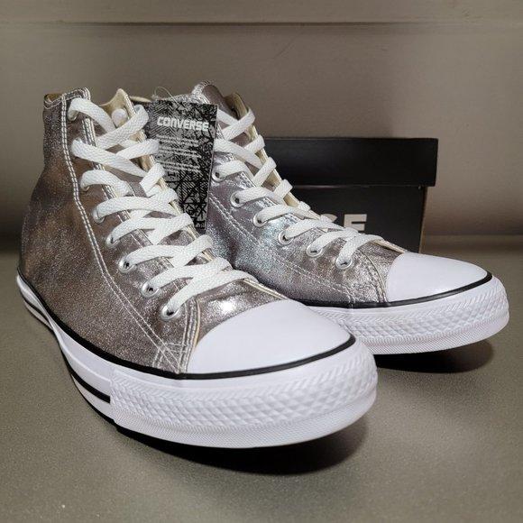 Converse CTAS Hi Metallic Unisex Sneakers NWT